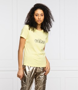 T-shirt Guess z okrągłym dekoltem z krótkim rękawem