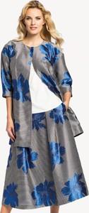 Niebieski płaszcz POTIS & VERSO z tkaniny