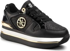 Sneakersy Guess sznurowane na platformie