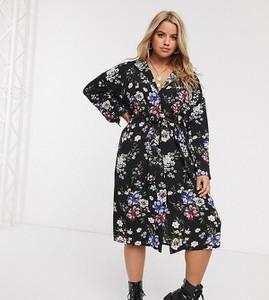 Sukienka New Look Plus z dekoltem w kształcie litery v z długim rękawem