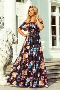 ce81f98489 Sukienka NUMOCO maxi w stylu casual z krótkim rękawem