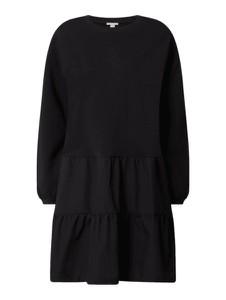 Czarna sukienka Esprit z okrągłym dekoltem w stylu casual z długim rękawem