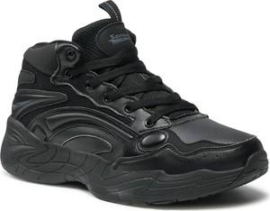 Czarne buty sportowe Sprandi w sportowym stylu sznurowane ze skóry