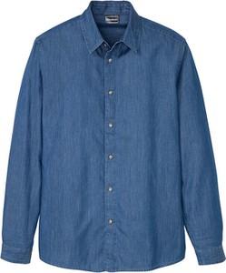 Niebieska koszula bonprix z długim rękawem