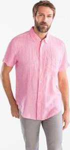Koszula ANGELO LITRICO z lnu z krótkim rękawem