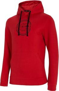 Czerwona bluza 4F w sportowym stylu