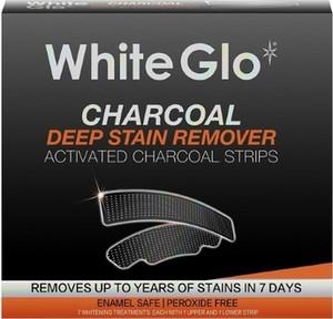 White Glo, Charcoal Teeth Whitening Strips, paski wybielające z aktywnym węglem, 7 szt.