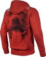 Czerwona bluza Pit Bull West Coast z bawełny