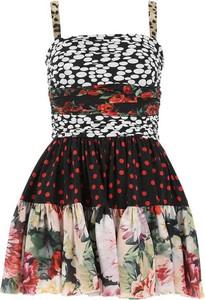 Sukienka Dolce & Gabbana z okrągłym dekoltem rozkloszowana