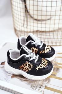 Czarne buty sportowe dziecięce Frrock sznurowane