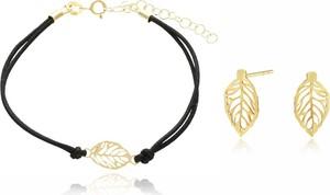 Irbis.style komplet srebrnej pozłacanej biżuterii - kolczyki i bransoletka