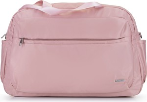 Różowa torba podróżna Wittchen z tkaniny