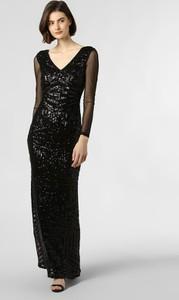 Czarna sukienka Lipsy z dekoltem w kształcie litery v z długim rękawem