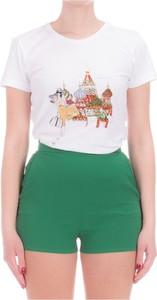 Bluzka Patrizia Pepe z okrągłym dekoltem w młodzieżowym stylu