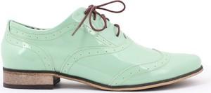 Zapato jazzówki - skóra naturalna - model 246 - kolor miętowy lakier