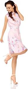 Różowa sukienka Lemoniade z dekoltem typu choker mini w stylu casual
