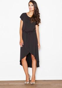 Sukienka sukienki.pl midi z krótkim rękawem