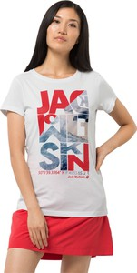 T-shirt Autoryzowany Sklep Jack Wolfskin z nadrukiem z bawełny