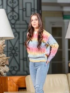 Sweter Biancaloren.pl z dzianiny w stylu casual
