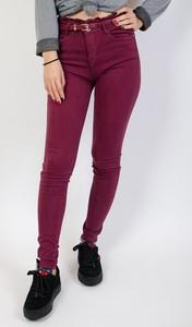 Fioletowe spodnie Olika w stylu casual