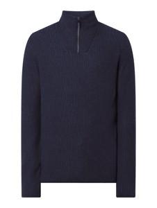 Sweter Christian Berg Men z wełny w stylu casual ze stójką