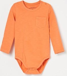 Pomarańczowe body niemowlęce Reserved