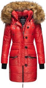 Czerwony płaszcz Navahoo z plaru w stylu casual