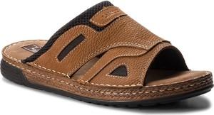 Brązowe buty letnie męskie Lasocki For Men z nubuku w stylu casual