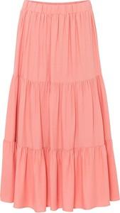 Różowa spódnica bonprix midi