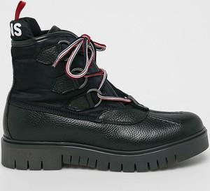 Czarne botki Tommy Jeans
