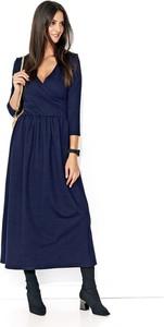 Granatowa sukienka Makadamia