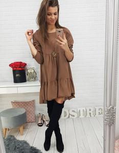 Brązowa sukienka Dstreet z bawełny