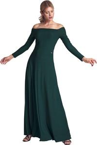 Zielona sukienka Figl maxi z długim rękawem