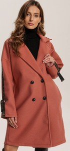 Pomarańczowy płaszcz Renee w stylu casual