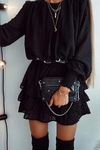 Czarna sukienka IVET.PL
