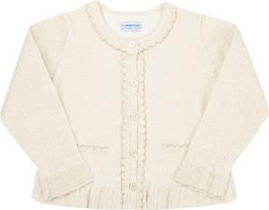 Srebrny sweter Mayoral dla dziewczynek