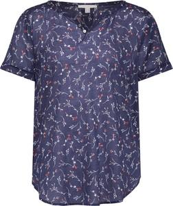 Bluzka Esprit z dekoltem w kształcie litery v z bawełny z krótkim rękawem