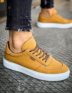 Dstreet.pl Sneakersy męskie kamelowe ZX0150