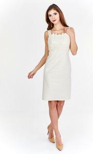 Sukienka Fokus bez rękawów w stylu klasycznym midi