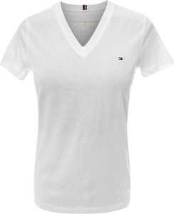 T-shirt Tommy Hilfiger z dekoltem w kształcie litery v