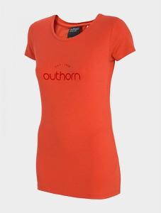 Czerwony t-shirt Outhorn w sportowym stylu