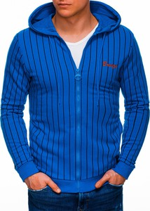 Niebieska bluza Edoti z bawełny w młodzieżowym stylu