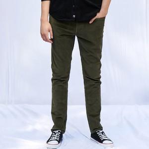 Zielone spodnie Sinsay w stylu casual ze sztruksu