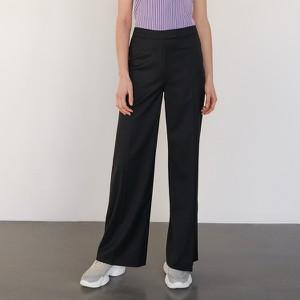 Czarne spodnie Reserved z wełny w stylu retro