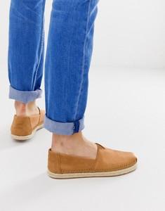 Brązowe buty letnie męskie Toms z tkaniny