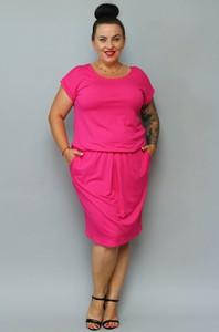 Sukienka KARKO z dresówki z krótkim rękawem