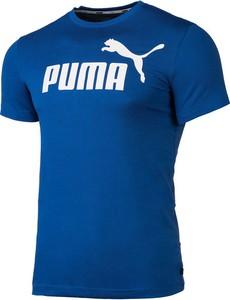 Niebieska koszulka dziecięca Puma z bawełny