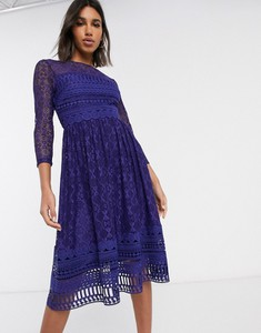 Granatowa sukienka Asos Design