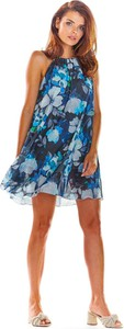 Sukienka Awama rozkloszowana bez rękawów w stylu casual