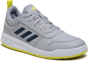 Buty sportowe Adidas z płaską podeszwą ze skóry ekologicznej sznurowane